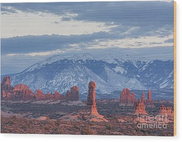 Arches National Park, Sunset Wood Print