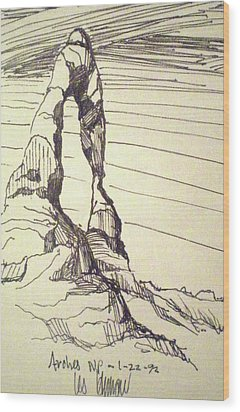 Arches Np Wood Print