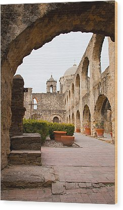 Arches Of Mission San Jose Wood Print by Iris Greenwell