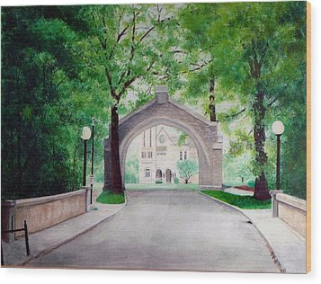 Arches Of Shadduck St Mary Wood Print by Marcus Moller