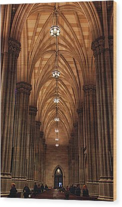 Wood Print featuring the photograph Arches Of St. Patrick's Cathedral by Jessica Jenney