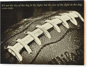Archie Griffin Quote Wood Print by David Patterson