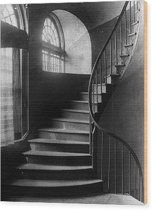 Arching Stairwell Wood Print