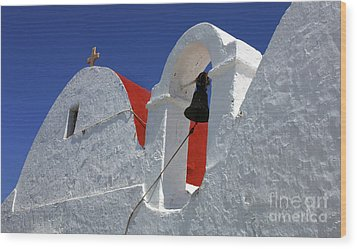 Wood Print featuring the photograph Architecture Mykonos Greece by Bob Christopher