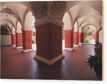 Archway Paintings At Santa Catalina Monastery Wood Print by Aidan Moran