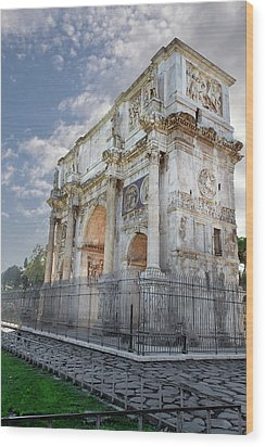 Arco Di Costantino Wood Print by John Hix