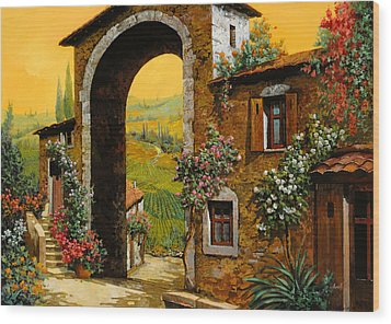Arco Di Paese Wood Print by Guido Borelli