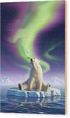 Arctic Kiss Wood Print by Jerry LoFaro
