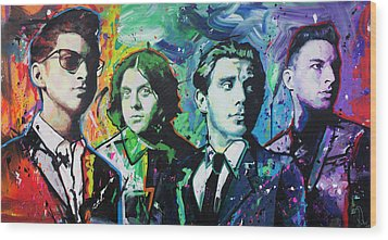 Wood Print featuring the painting Arctic Monkeys by Richard Day