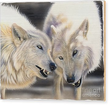 Arctic Pair Wood Print by Sandi Baker
