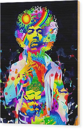Are You Experienced? Wood Print by Callie Fink