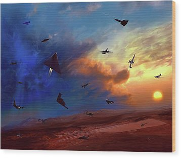 Area 51 Groom Lake Wood Print