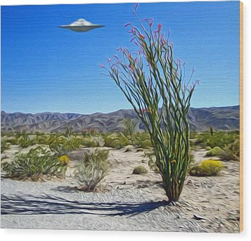 Area 51 U.f.o. Sighting  Wood Print by Gregory Dyer
