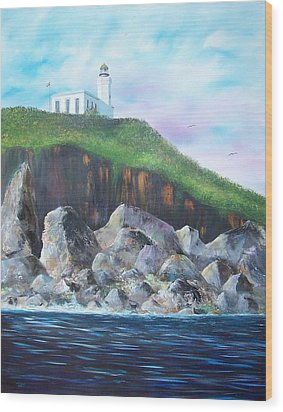 Arecibo Lighthouse Wood Print by Tony Rodriguez