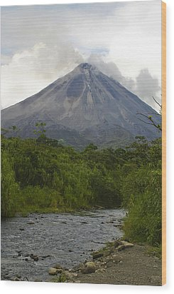 Arenal By Day Wood Print