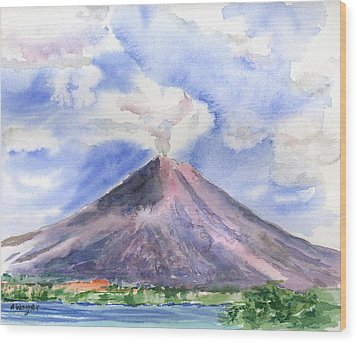 Arenal Volcano Costa Rica Wood Print by Arline Wagner