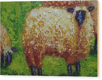 Aren't Ewe Cute Wood Print by Marie Hamby