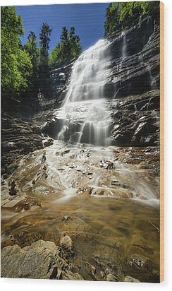 Wood Print featuring the photograph Arethusa Falls by Robert Clifford