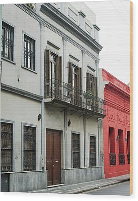 Argentine City Scene Wood Print
