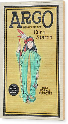 Argo Corn Starch Wall Advertising Wood Print