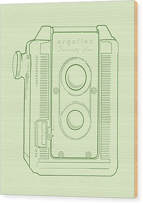 Wood Print featuring the digital art Argoflex Green by Christina Lihani