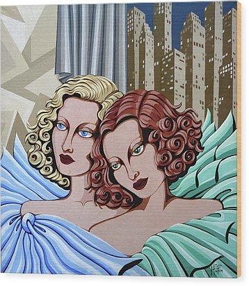 Arielle And Gabrielle Wood Print by Tara Hutton