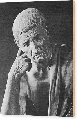 Aristotle, Wood Print by