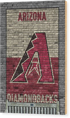 Arizona Diamondbacks Brick Wall Wood Print