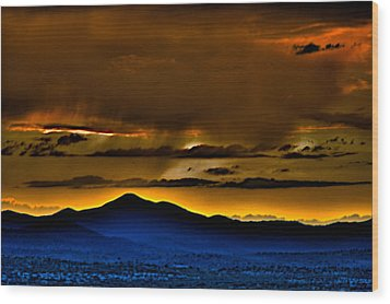 Arizona Dusk Wood Print