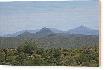 Wood Print featuring the photograph Arizona Horizons by Gordon Beck