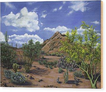 Arizona Wood Print by Lisa Reinhardt