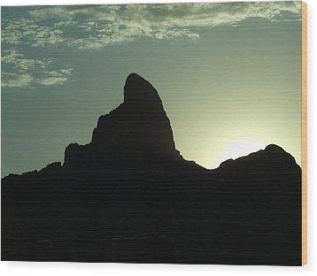 Arizona Silhouette Wood Print by Gabrielle Pierce