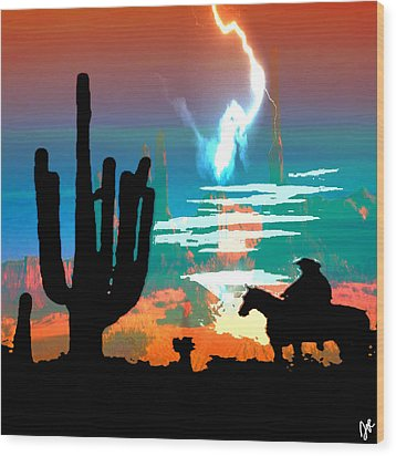 Wood Print featuring the photograph Arizona Skies by Ken Walker