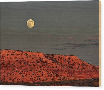 Arizona Supermoon 001 Wood Print