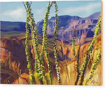 Arizona Superstition Mountains Wood Print