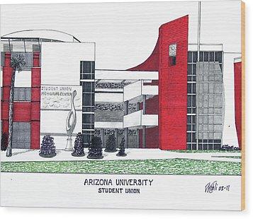 Arizona University Wood Print by Frederic Kohli