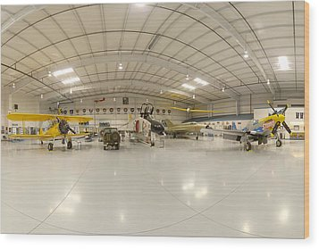 Arizona Wing Of The Commemorative Air Force Hangar March 28 2011 Wood Print by Brian Lockett