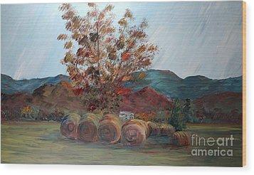 Arkansas Autumn Wood Print by Nadine Rippelmeyer