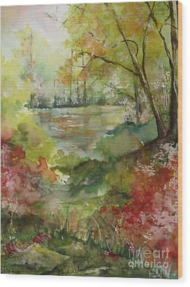 Arkansas Springtime Wood Print by Robin Miller-Bookhout