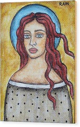 Arlene Wood Print by Rain Ririn
