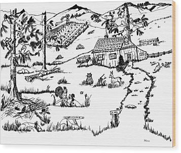 Arlenne's Idyllic Farm Wood Print by Daniel Hagerman