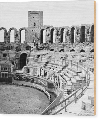 Arles Amphitheater A Roman Arena In Arles - France - C 1929 Wood Print by International  Images