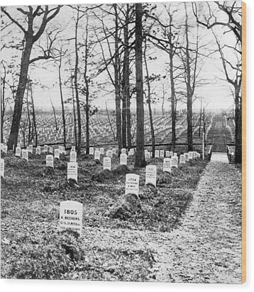 Arlington National Cemetery - C 1867 Wood Print by International  Images