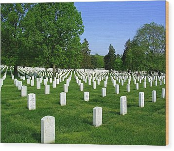 Wood Print featuring the photograph Arlington National Cemetery by Don Struke