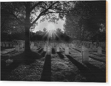 Arlington National Cemetery Wood Print by Paul Seymour