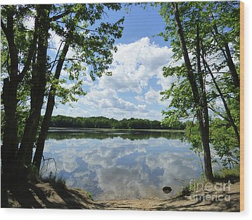 Arlington Reservoir Wood Print