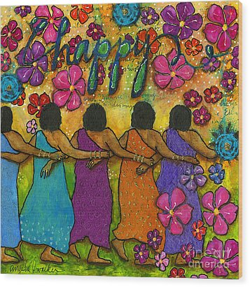 Arm In Arm - The Strongest Chain Wood Print by Angela L Walker