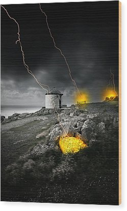 Armageddon Wood Print by Jaroslaw Grudzinski