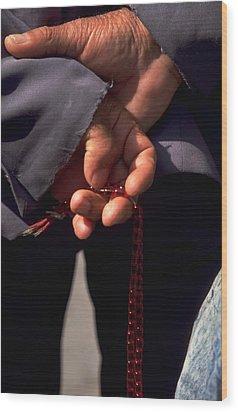 Armenian Prayer Beads Wood Print