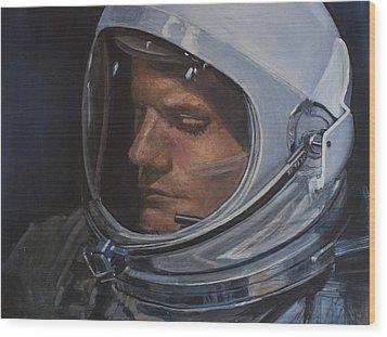 Armstrong- Gemini Viii Wood Print by Simon Kregar